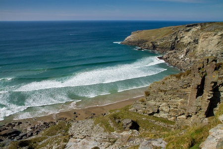 Treknow beach from the South-West coastal path Stock Photo - 13093511