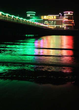birnbeck: Il Pier Gran Weston-super-Mare in una notte tranquilla