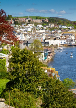 Dartmouth in Devon with the Naval College on the hill photo