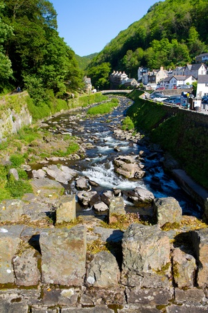 lyn: Lynmouth in Devon towards Watersmeet