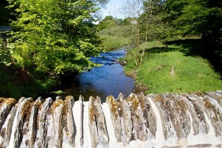 River Barle from Simonsbath bridge in Exmoor National Park Devon