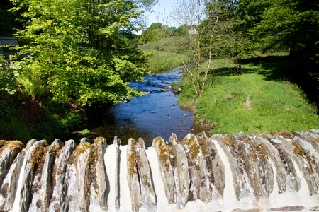 exmoor: River Barle from Simonsbath bridge in Exmoor National Park Devon