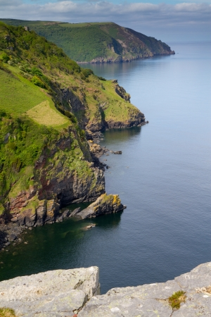 Devon coastline near Lynton from the top of the Valley of the Rocks Stock Photo - 14171913