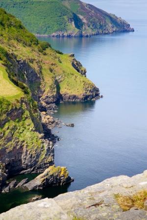 Devon coastline near Lynton from Castle Rock Stock Photo - 14171943