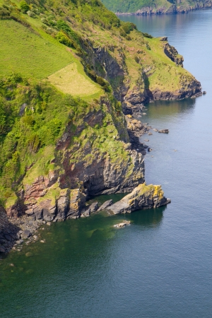 lynton: Devon coastline near Lynton from the top of the Valley of the Rocks Stock Photo
