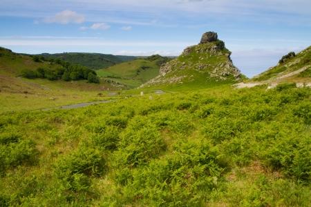 lynton: The approach to the Valley of Rocks Lynton Devon