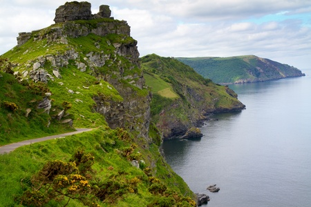 Devon coastline of the Valley of the Rocks near Lynton Stock Photo - 14171925