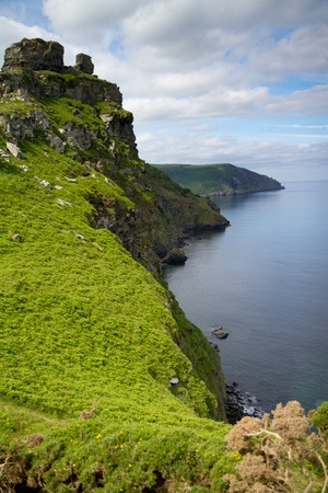 Devon coastline near Lynton Stock Photo - 14171920