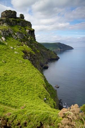 Devon coastline near Lynton Stock Photo - 14171920