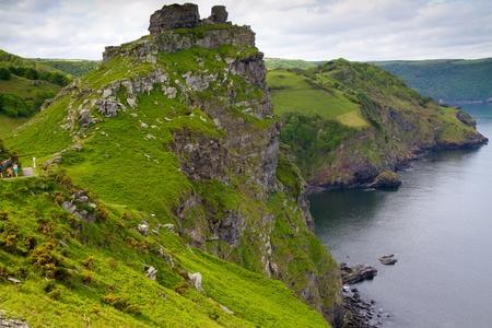 Devon coastline at the South-West coastal path Lynton