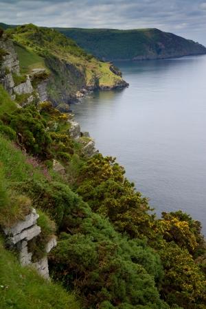 woody bay: Devon coastline at the Valley of Rocks Lynton
