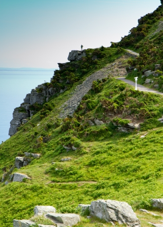 lynton: The South-West coastal path near Lynton Devon Stock Photo