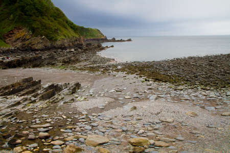 lyn: The shingle beach at Woody Bay near Lynton and Lynmouth in Devon