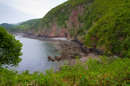 Woody Bay near Lynton and Lynmouth in Devon Stock Photo - 14172004