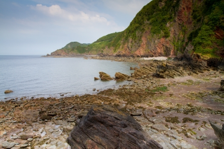 watersmeet: Woody Bay beach near Lynton and Lynmouth in Devon Stock Photo