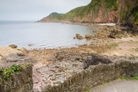 Woody Bay near Lynton and Lynmouth in Devon Stock Photo - 14172012
