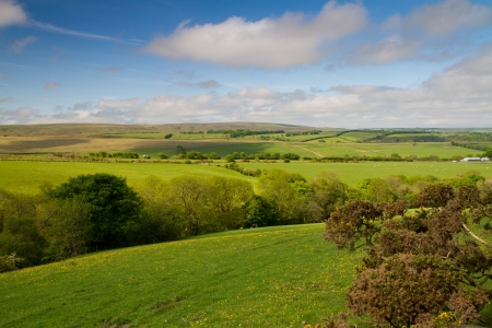 The Exmoor National Park in Devon