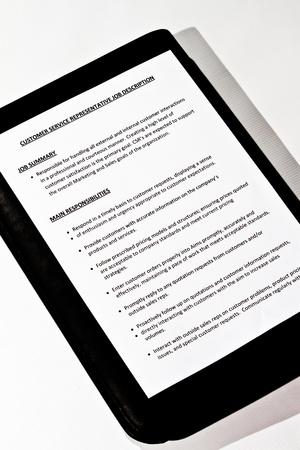 comunicación escrita: Descripción del puesto de Representante de Servicio al Cliente