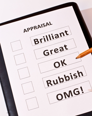 instrument of measurement: A fun Performance Appraisal form