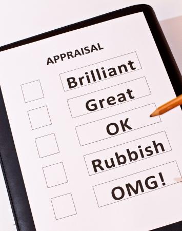 A fun Performance Appraisal form