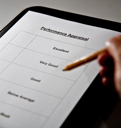An appraisal form 版權商用圖片