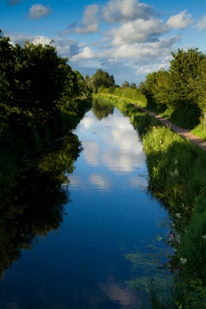 Bridgwater and Taunton Canal in Somerset  Stock Photo