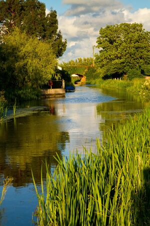 Canal in Somerset England photo