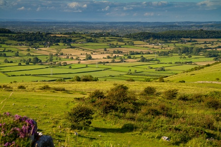 View from Crook Peak in Somerset, part of the Wessex Walk photo