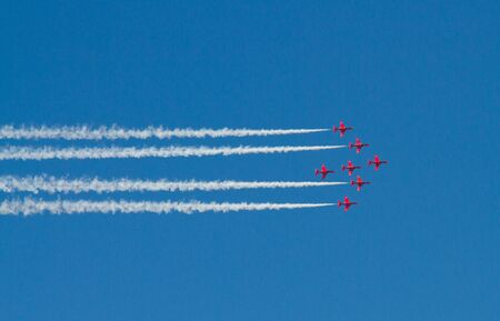 Red Arrows Display Team in formation