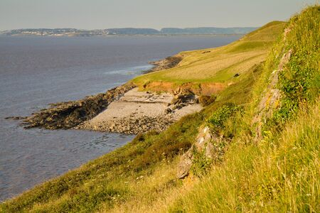 birnbeck: Sand Point coastline in Sand Bay Weston-super-Mare Stock Photo