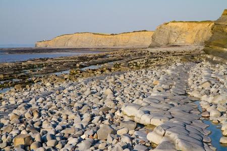 Kilve beach and coastline in Somerset England Stock Photo