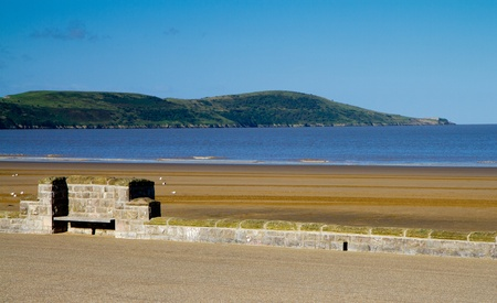 birnbeck: Brean Down viewed from Weston-super-Mare beach