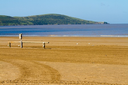 Brean Down viewed from Weston-super-Mare beach Stock Photo - 15124649