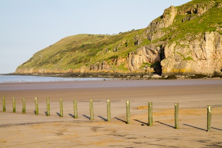 Brean beach and Brean Down Somerset Stock Photo - 15226881