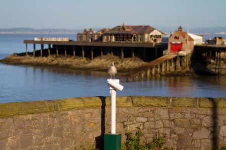 birnbeck: Weston-super-Mare Birnbeck Island Stock Photo