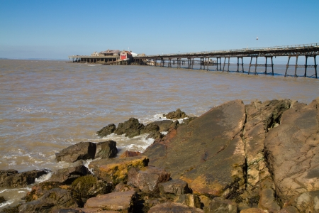 birnbeck: Birnbeck Island Weston-super-Mare Stock Photo