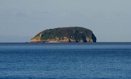 birnbeck: Steep Holm Island vicino a Weston-super-Mare, nel Canale di Bristol Archivio Fotografico