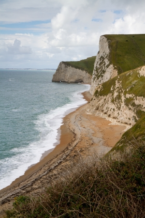 Dorset coastline looking towards Portland on the Jurassic Coast  photo