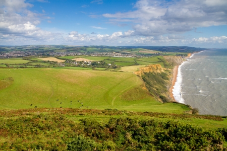 Dorset countryside and coastline photo