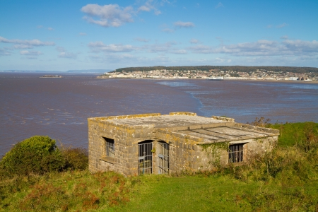Weston-super-Mare coastline photographed from Brean Down Somerset Stock Photo - 16048129
