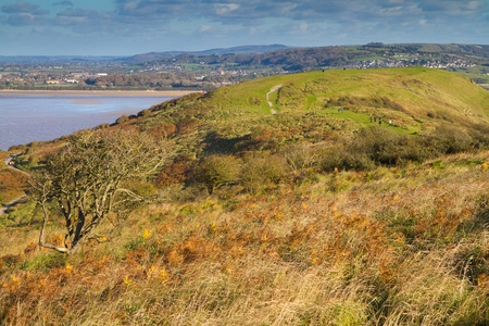 brean: Brean Down Somerset in autumn Stock Photo