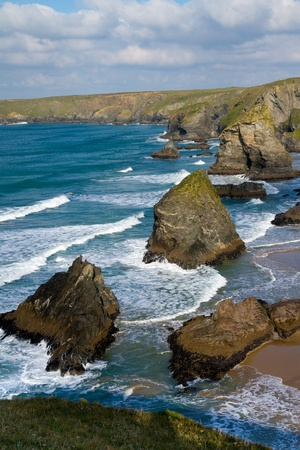 North Cornwall coast between Padstow and Newquay Cornwall England United Kingdom photo