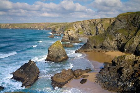 Carnewas and Bedruthan Steps Cornwall UK photo