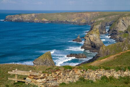 Bedruthan Steps Cornwall England photo