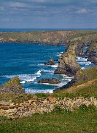 Cornwall coast Bedruthan Steps England UK photo