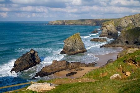 Bedruthan Steps Cornwall England United Kingdom photo