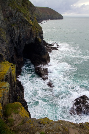 Cornish coastline near St Agnes North Cornwall England  United Kingdom  photo