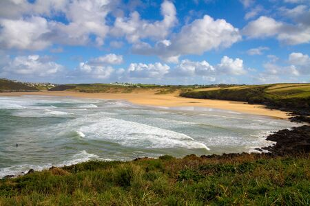 Autumn at Crantock Cornwall England photo