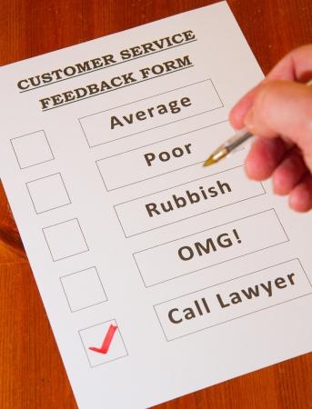 Fun Customer Service Feedback Form Loaded With Bad Options