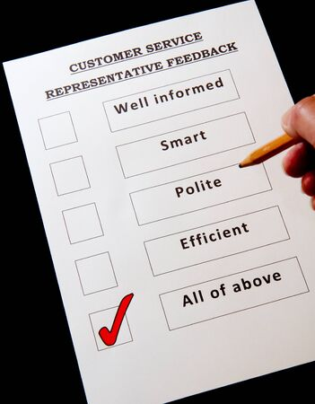 Customer Service Feedback Form with options for rating service photo